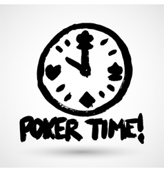 Grunge poker icon vector image