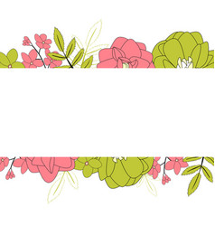 hand drawn flower natural background vector image