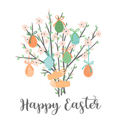 happy easter template for card poster vector image