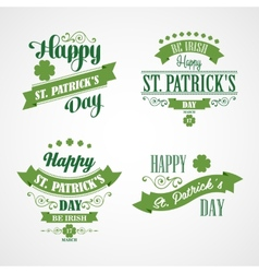 Happy Saint Patrick Day Card Typographic With vector image