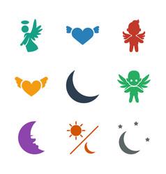 Heaven icons vector