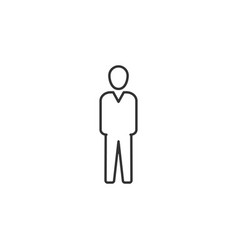 human businessman line icon simple modern flat vector image