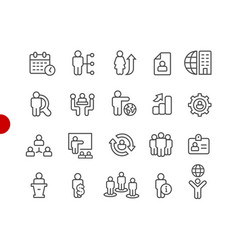Human resources icons red point series vector
