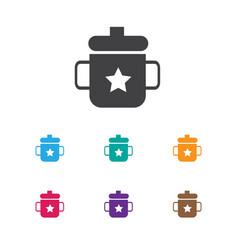 Infant symbol on mug icon vector