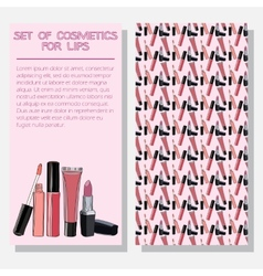 leaflet with improved formula cosmetics for lips vector image