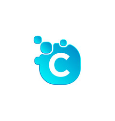 letter c bubble logo template or icon vector image