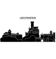 Liechtenstein architecture city skyline vector