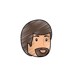 man smiling cartoon vector image