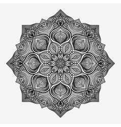 Mandala circular monochrome pattern vector