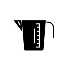 Measuring cup icon black vector