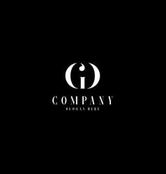 minimal monogram elegant gd logo vector image