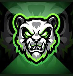 panda head esport mascot logo design vector image