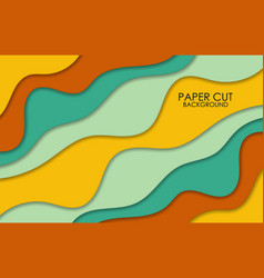 papercut multi layers 3d color texture vector image