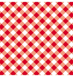 Pattern seamless gingham tablecloth vector