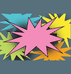 Pink comic burst explosion pop art vector