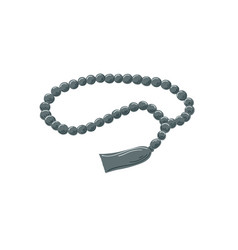 Prayer beads islamic rosary with tassel isolated vector
