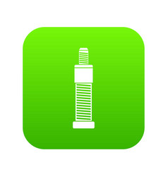 screw and bolt icon digital green vector image