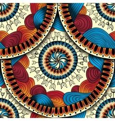 Seamless geometric pattern in fish scale design vector