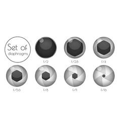 Set lens aperture vector