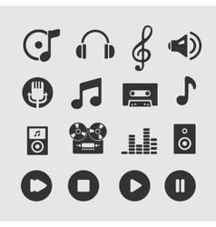 set musical symbols vector image