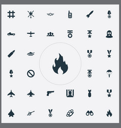 Set simple conflict icons vector