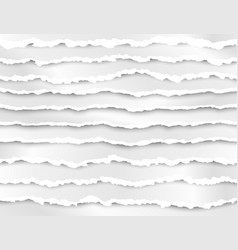 set torn paper stripes abstract paper texture vector image