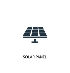 solar panel icon simple element vector image