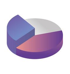 Statistics pie infographic isometric icon vector