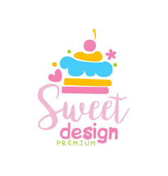 sweets premium logo design label for vector image