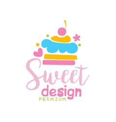 sweets premium logo design label vector image