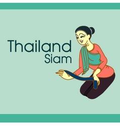Thailand women design vector