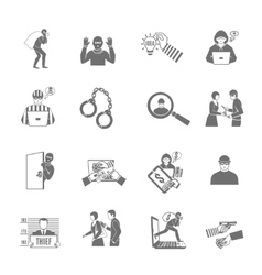 Theft And Robbery Icons Set vector
