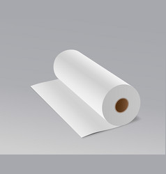 tissue paper roll long design on gray background vector image