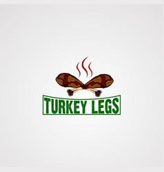 Turkey leg logo icon elementand template for vector
