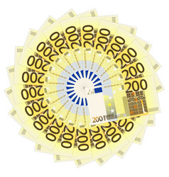 Two hundred euro banknotes vector