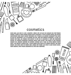 Banner make up and cosmetics set vector image