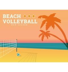 Beach volleyball season vector image vector image