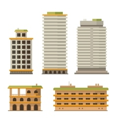 Business Center Buildings Set vector image vector image