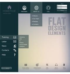 Homepage vector image