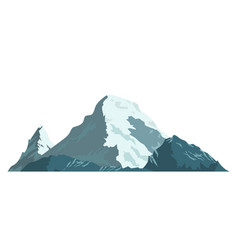 ice mountain covered with snow vector image