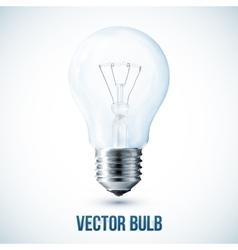 realistic lightbulb vector image