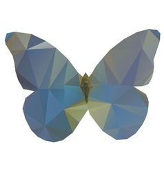 Triangle butterfly vector image vector image