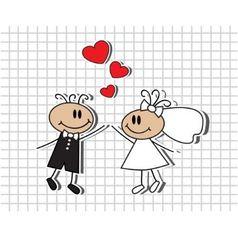 cartoon wedding vector image