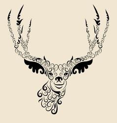 Deer head ornament vector image vector image