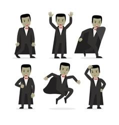 Dracula vampire cartoon character vector