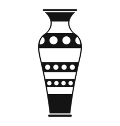 Egyptian vase icon simple style vector image vector image