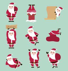 fummy cartoon santa set vector image