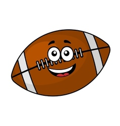 Fun happy football or rugby ball vector image