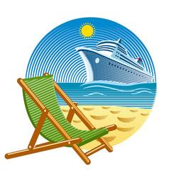 island tropical resort vector image