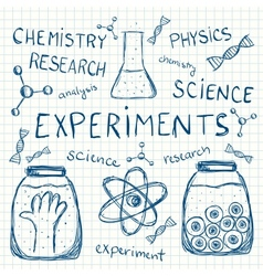 Sciientific experiments on squared paper vector image